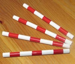 Red Trotting Poles