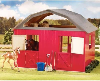 Traditional Two-Stall Red Barn
