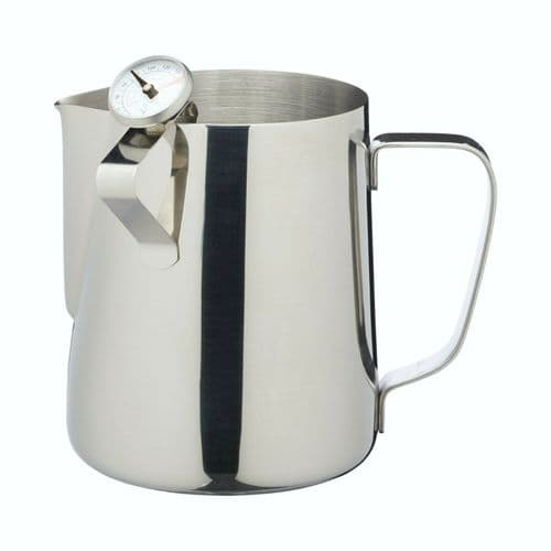 LeXpress Stainless Steel Milk Frother Jug with Thermometer by KitchenCraft