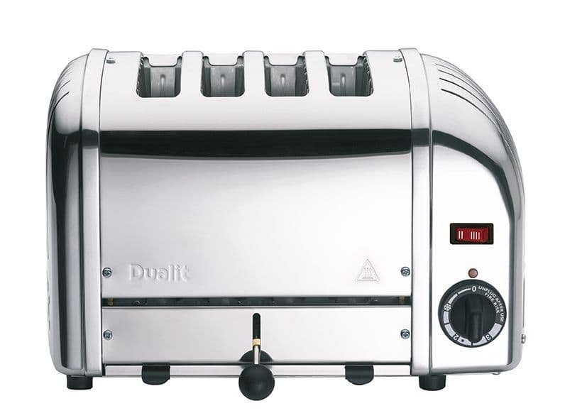Dualit 4 Slice Classic Vario Toaster Polished Stainless Steel