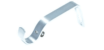 16/19mm Matt Silver Curtain Pole Wall Bracket 1 2 3