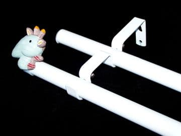 19/19mm Double Layer Eyelet pole with GIRAFFE Finials 1.2m 1.5m 2.4m 3m