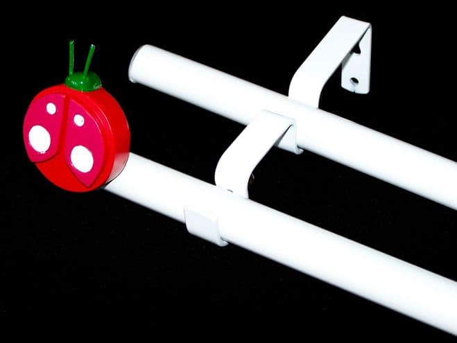 19/19mm Double Layer Eyelet pole with LADYBIRD Finials 1.2m 1.5m 2.4m 3m