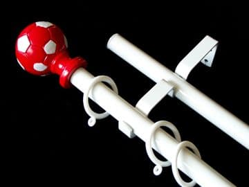19/19mm Double Layer Red Football Curtain Pole 1.2m 1.5m 2.4m 3m