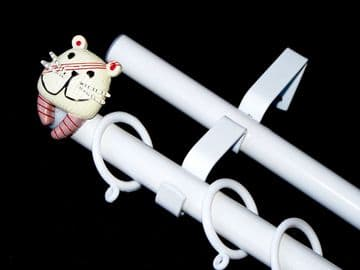 19/19mm Double Layer White Childrens Kids TIGER Curtain Pole 1.2m 1.5m 2.4m 3m