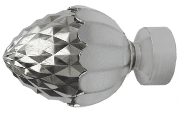 35mm Stainless Steel Metal Acorn Curtain Pole Finials