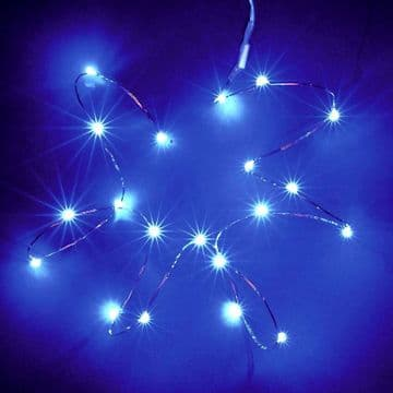 Battery LED Copper Wire MultiAction Fairy Lights Timer Blue Pink Multi-coloured