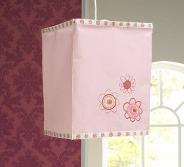 Lollipop Lane Upsy Daisy Pink Bedroom Ceiling Pendant Square Light Shade Lantern