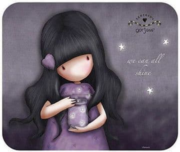 Santoro Gorjuss Purple WE CAN ALL SHINE Designer Mouse Mat 25 x 21 cms