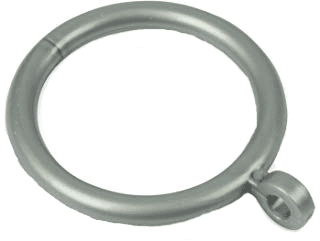 Silver/Grey Plastic Curtain Rings Suitable for 16mm - 23mm Curtain Pole
