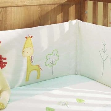 Tiddly Wink Safari Nursery Cot Bed Extra Large Bumper 50 x 200cm