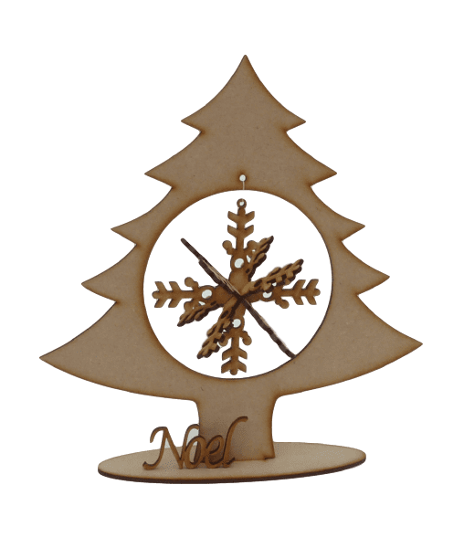 Christmas Tree with 3D Snowflake