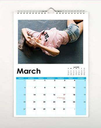 2022 Personalised Calendar A4 Size
