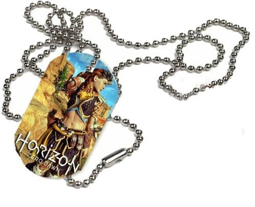 Aloy Horizon Zero Dawn, 1 x ID Dog Tag With Bead Necklace