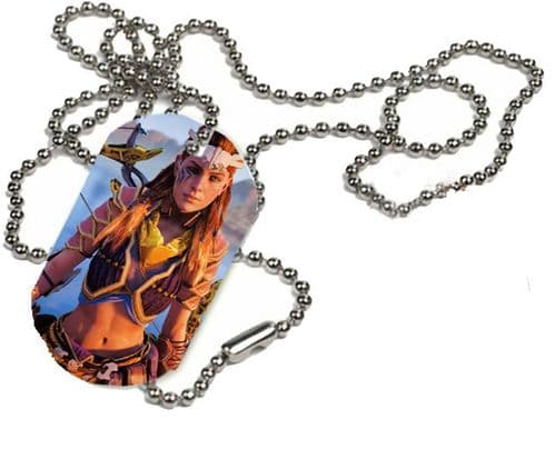 Aloy Horizon Zero Dawn, 1 x ID Dog Tag, With Bead Necklace