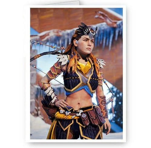 Aloy Horizon Zero Dawn A5 Happy Birthday, Christmas, Thank You Card