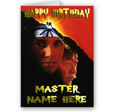 Any Name Karate Kid Theme A5 Birthday Card With Envelope