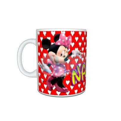 Any Name Personalised Disney Minnie Mouse 11oz Large Handle Mug