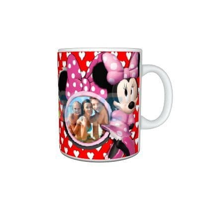 Any Name, Photo Personalised Disney Minnie Mouse 11oz Large Handle Mug