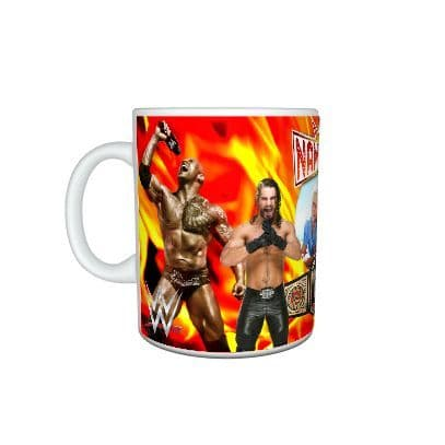 Any Name & Photo Personalised WWE 11oz, Large Handle Mug