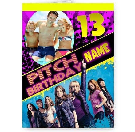 Any Personalised Photo A5 Pitch Perfect Birthday Card With Pink Envelope