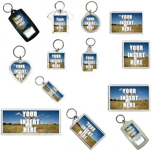 Any Personalised Your Photos Acrylic Plastic Keyring or Fridge Magnet, ALL SIZES