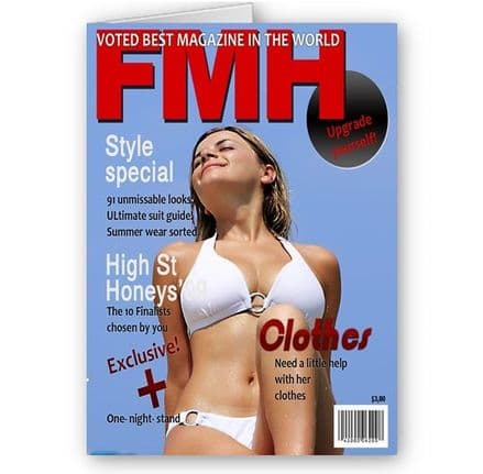Any Photo FHM Magazine Theme A5 All Occasion Card