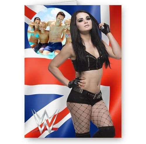 Any Photo Personalised WWE Paige A5 All Happy Birthday Card