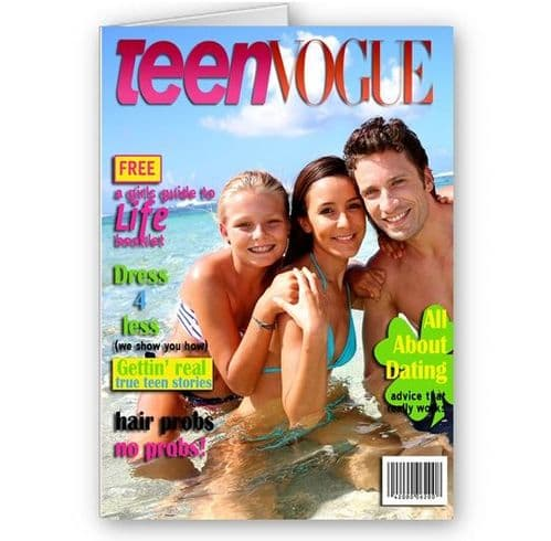 Any Photo Teen Vogue Magazine Theme A5 All Occasion Card
