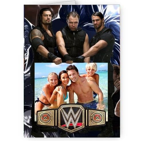 Any Photo WWE The Shield A5 All Occasion Card