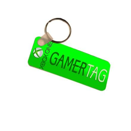 Any Xbox Gamertag Name or Any Name Number Plate Style Fiberglass Plastic Xbox One Keyring