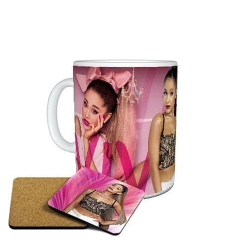 Ariana Grande Mug Birthday, Christmas, Special Gift, Size 11oz, WITH FREE COASTER