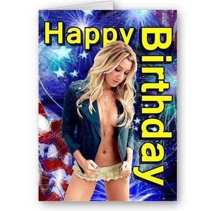 Ashley Tisdale Happy Birthday, A5 Card with Envelope