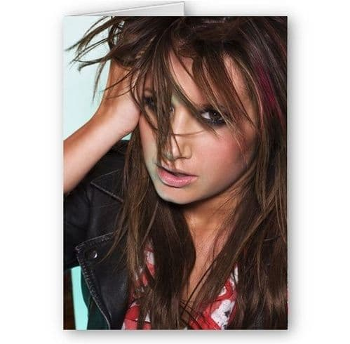 Ashley Tisdale Happy Birthday, Christmas Any Occasion A5 Card