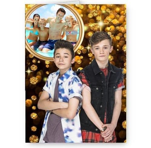 Bars & Melody A5 All Occasions Personalised Photo Added Card With Yellow Envelope