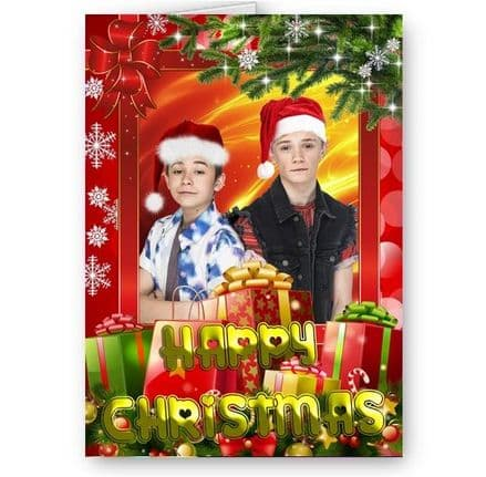Bars & Melody A5 Christmas Card With Yellow Envelope