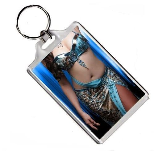 Beautiful Belly Dancer Keyring, Fridge Magnet or Photo Poster, Various Sizes