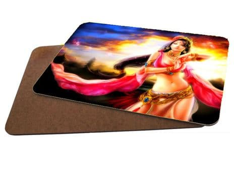Belly Dancer Fantasy Theme MDF Strong Placemat 20cm x 28cm