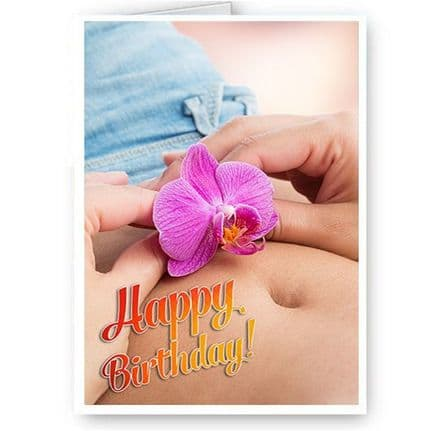 Belly & Flower A5 Happy Birthday Occasion Card With Envelope