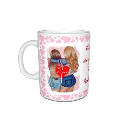 Best Friends, BFF, Happy Valentines Day Palentines Mug Gift, Size 11oz