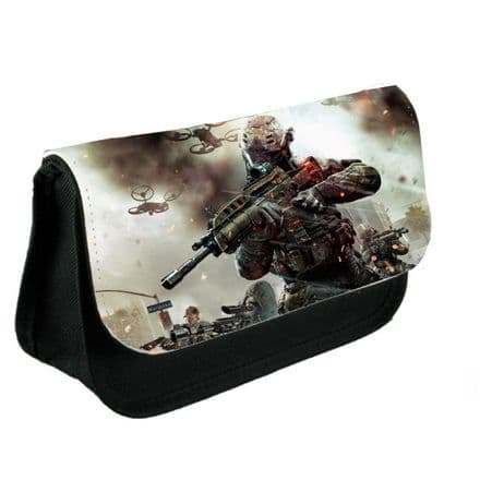 Call Of Duty Black Ops 3 Theme Pencil Case Or Make-Up Bag Black