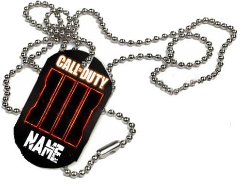 Call Of Duty, Black Ops 4 Personalised Name, 1 x ID Dog Tag With Bead Necklace