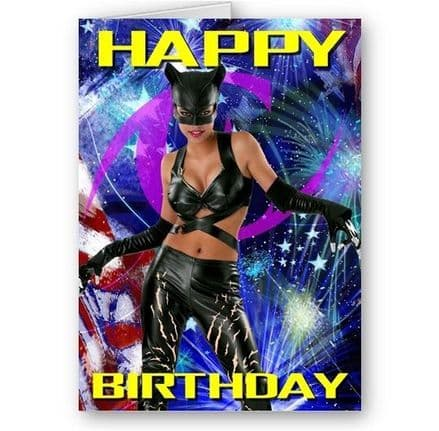 Catwoman A5 Happy Birthday Card with Envelope