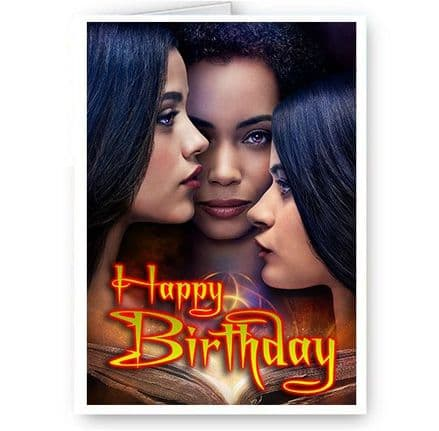 Charmed, Mel, Maggie and Macy, A5 Happy Birthday Card New & Sealed