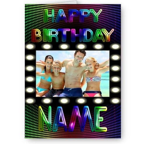 Clubbing Night Life A5 Happy Birthday Multi Coloured Card With Black Envelope