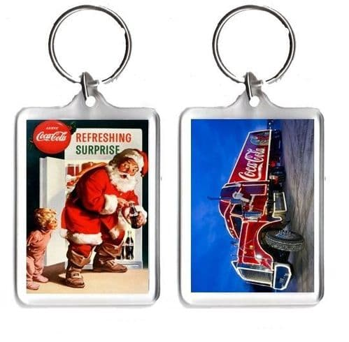 Coca Cola Christmas Keyring, Small, Large or Jumbo