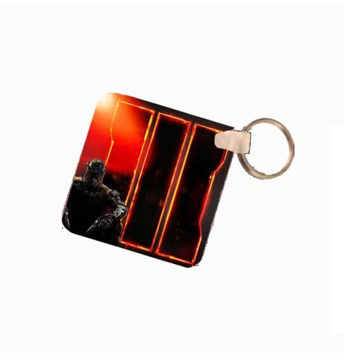 COD, Call Of Duty 3 Fiberglass Plastic Square Keyring. Size 60mm x 60mm