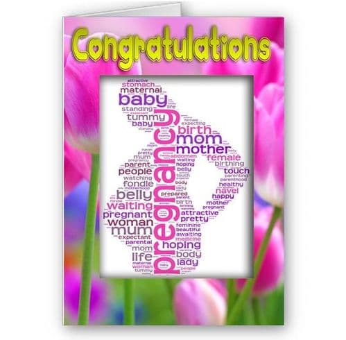 Congratulations On Your Pregnancy A5 Occasion Card