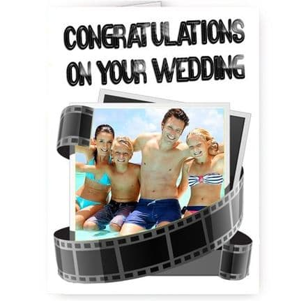 Congratulations On Your Wedding Personalised Photo A5 Card