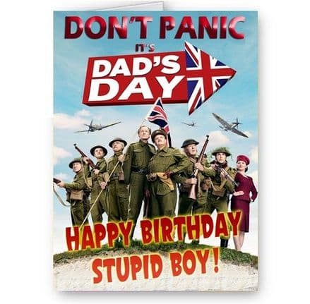 Dad's Army A5 Happy Birthday Card With Red Envelope